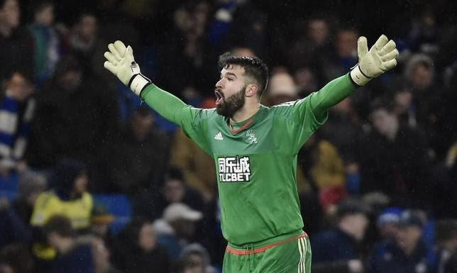 Football Soccer - Chelsea v West Bromwich Albion - Barclays Premier League - Stamford Bridge - 13/1/16West Brom's Boaz Myhill Reuters / Toby MelvilleLivepic
