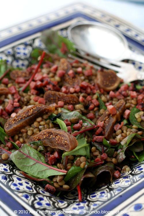 Insalata di lenticchie e fichi secchi