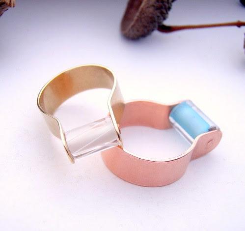 clutch of fidget rings