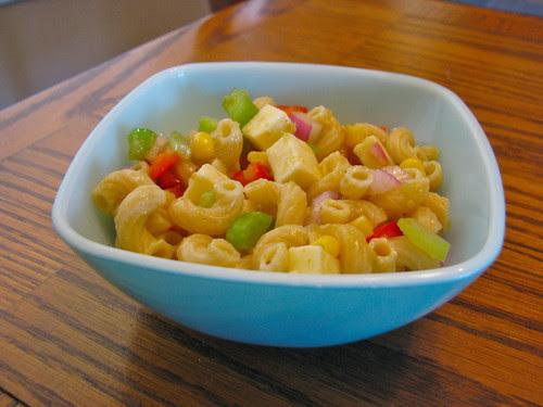 Mac n' Jack Salad in Pyrex