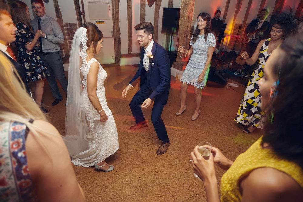 dancing at wedding in Sudbury
