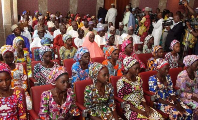 Image result for 82 girls released from Boko Haram