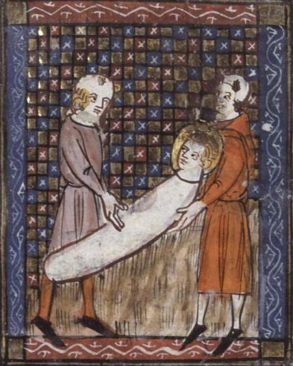 Martyrskap av St avgörande från en martyr av det fjortonde århundradet