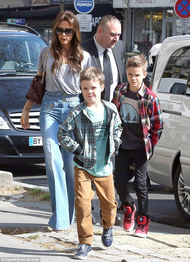 Well-behaved boys: Despite being in the most famous family in the world, the Beckham boys proved how sensible they could be