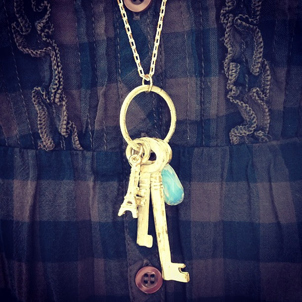 I got the key to your heart. Accessories of the day. #aofd #accessories #fashion #ootd #lotd #instafashion