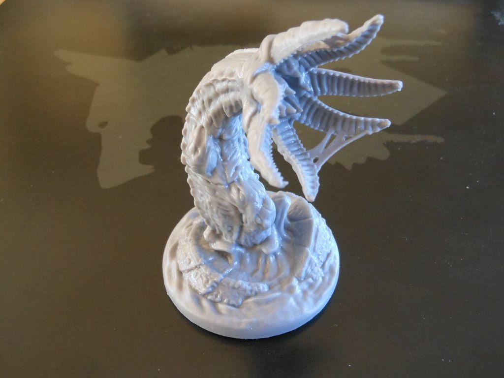 Huge, disgusting Mother of Worms boss monster miniature from Fireteam Zero.