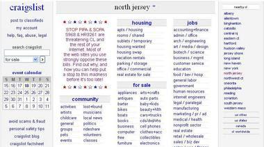 Craigslist north jersey personals