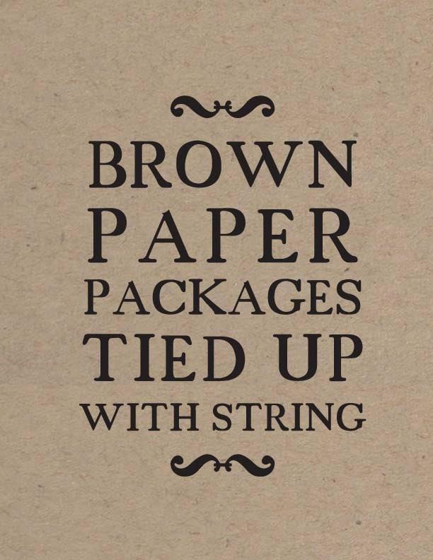 Sound of Music // Gift Table Wedding Signage // Cream or Kraft Paper - LADYBIRDINK