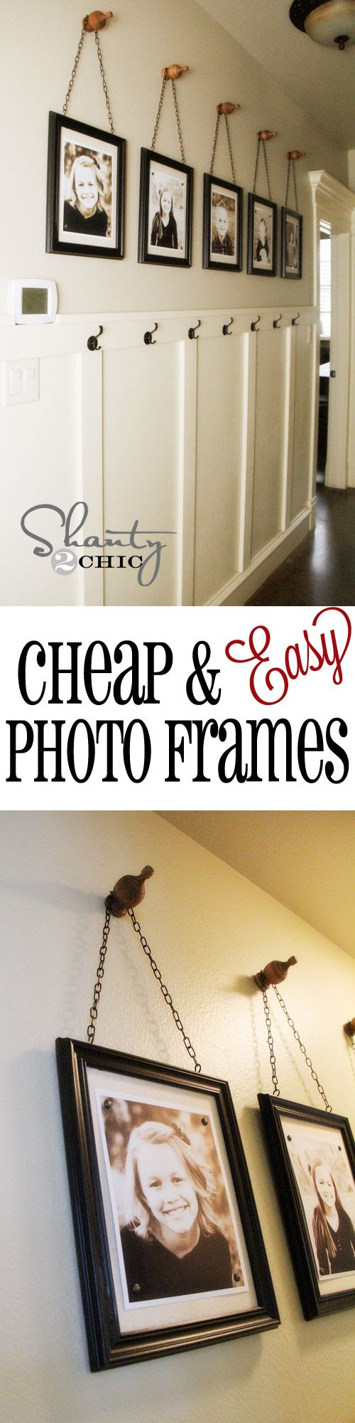 Cheap & Easy Picture Frames! All you need is a hot glue gun... Woohoo!