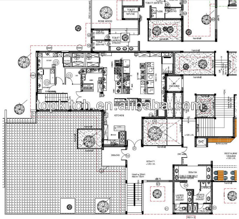 Kitchen Layout In A Hotel