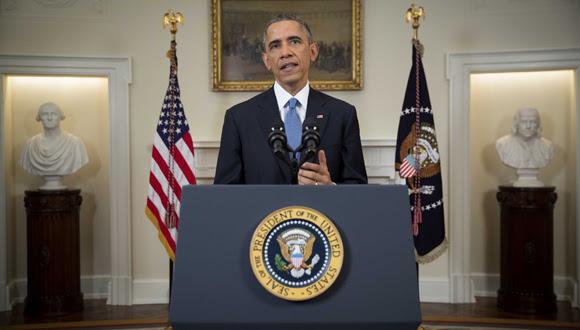 Obama da a conocer la nueva política de su gobierno hacia Cuba, 17 de diciembre de 2014 Foto: AFP