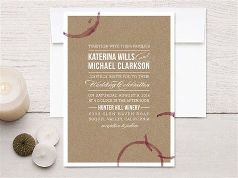 25  best ideas about Winery Wedding Invitations on