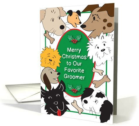 Christmas To Dog Groomer card (841830)