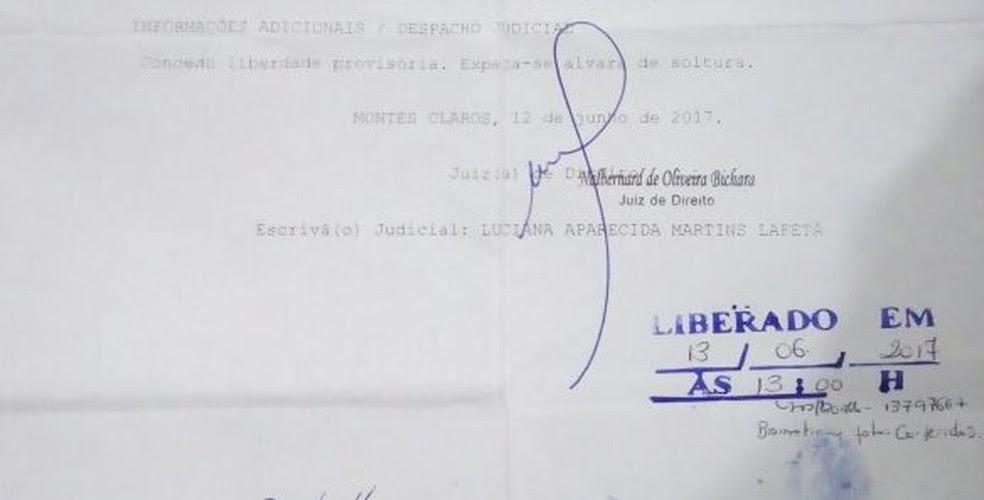 Homem foi solto em 13 de junho deste ano (Foto: Polícia Militar/Divulgação)