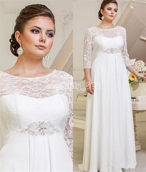 lace chiffon wedding dresses bridal gown  size custom