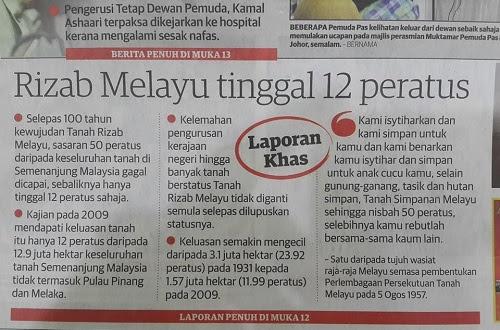 Konvensyen pastikan  Tanah Rizab Melayu terjamin