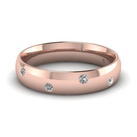 15 Best Ideas of Rose Gold Men's Wedding Bands With Diamonds