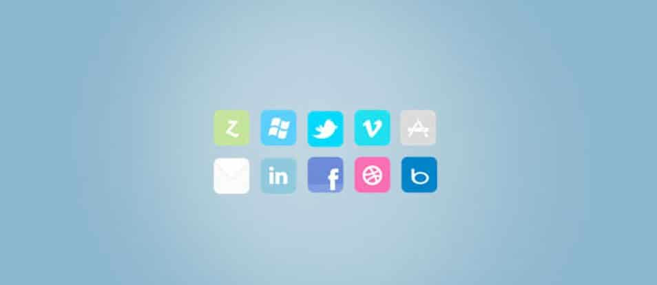 Complete Flat Social Icon Set