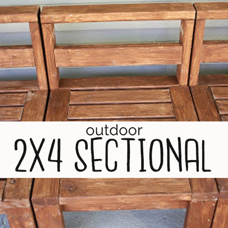 diy 2x4 outdoor sectional building plans
