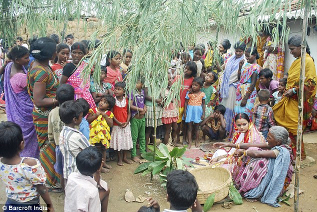 Good turn-out: Around 70 relatives attended the ceremonyin the eastern Indian state of Jharkhand