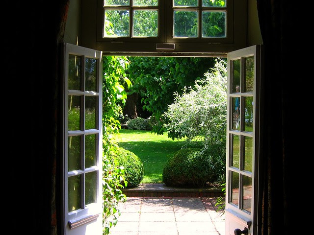 The view of Henry James' Garden at Lamb House, Rye