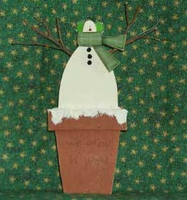 Free tole pattern - We Grow in Snow snowman crafts