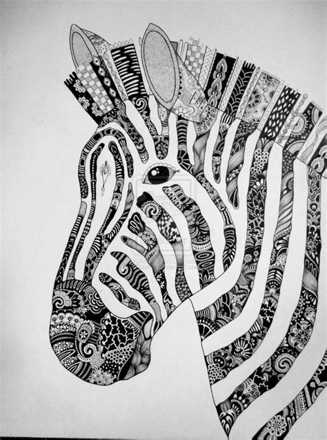 zentangle animals zebra zentangle  duuma zentangle