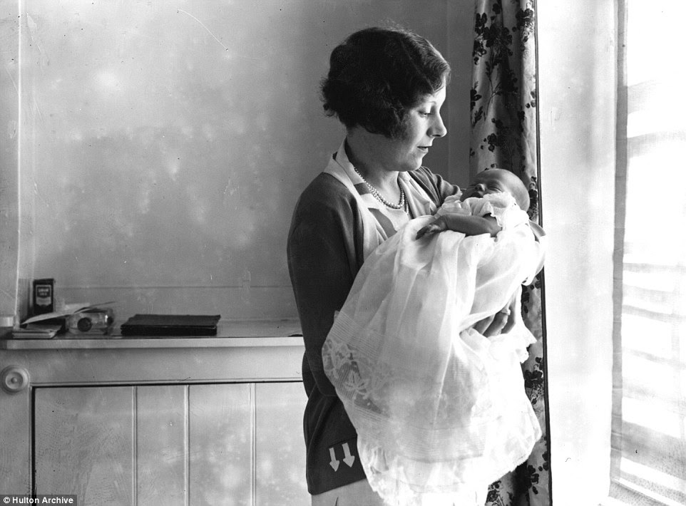 Countess Spencer, born in 1929, was the only daughter of Alexander McCorquodale and the noted novelist Dame Barbara Cartland (She is pictured as a baby with her author mother at Althorp House in the Daventry District of Northamptonshire)