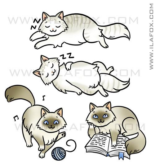 mascote sob encomenda, gatinhos, by ila fox