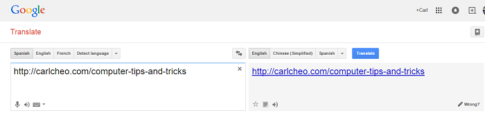 Google Translate as Proxy