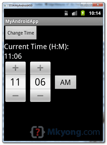 android timepicker demo3
