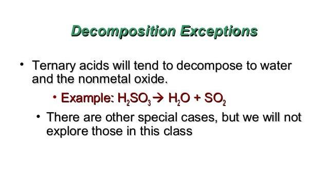 H2so3 Decomposition
