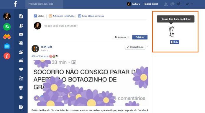 Facebook Flat bloqueia anúncios da rede social (Foto: Reprodução/Barbara Mannara)