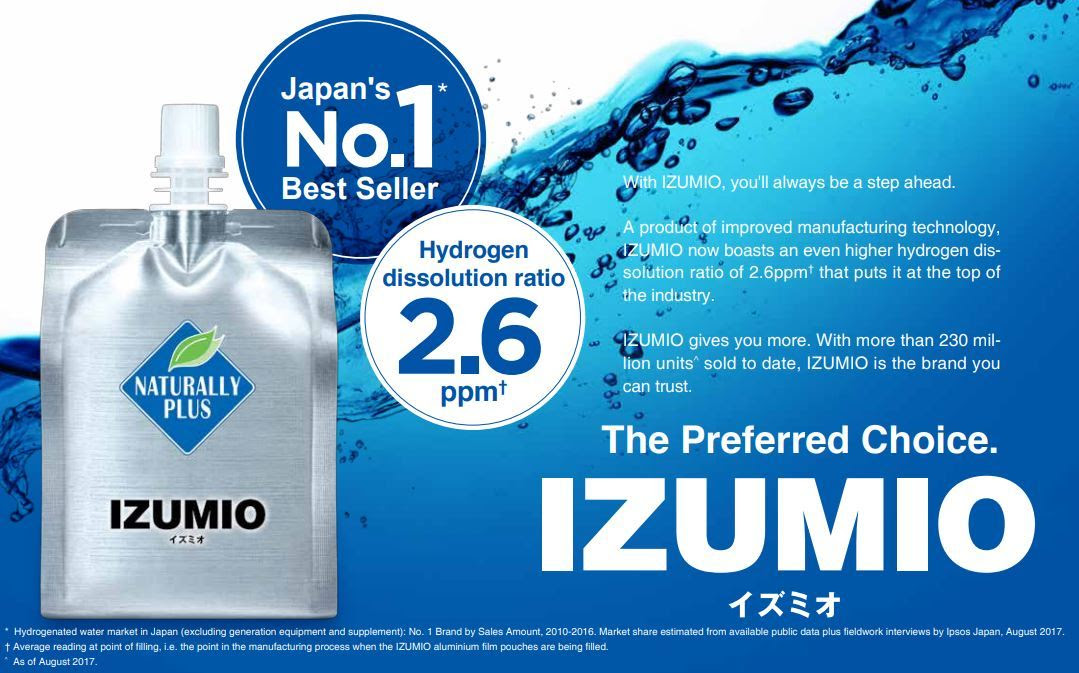 Image result for izumio hydrogen water malaysia