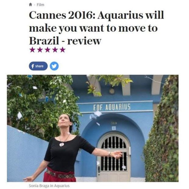 Resultado de imagem para filme aquarius fotos