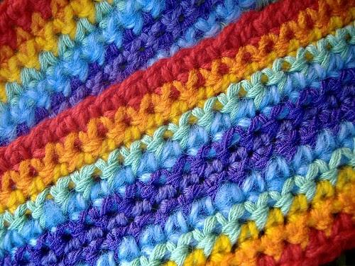 red scarf - closeup