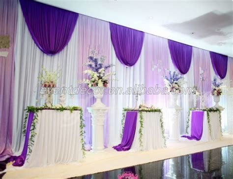 Luxury Design Curtain Wedding Stage Drape Decor Church