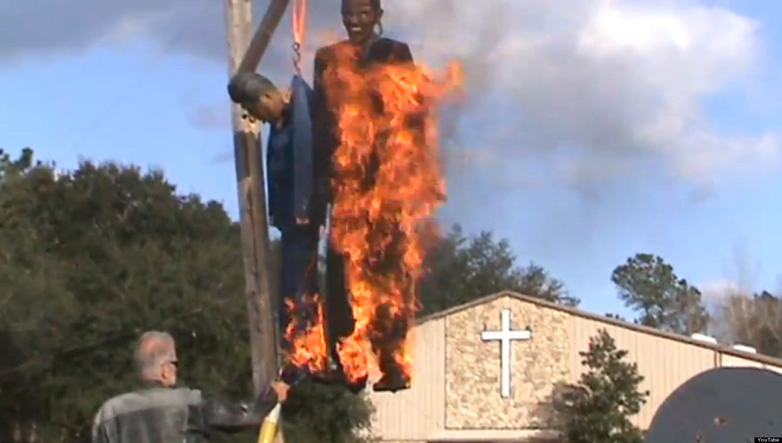 Image result for obama burning effigy