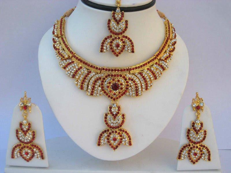 kundan jewellery necklace
