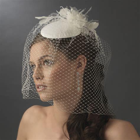 Wholesale Vintage Bridal Hat with Bird Cage Face Veil