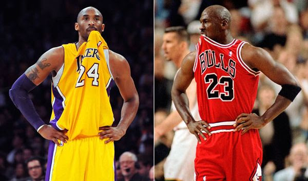 One proof that Kobe wanted to emulate His Airness.