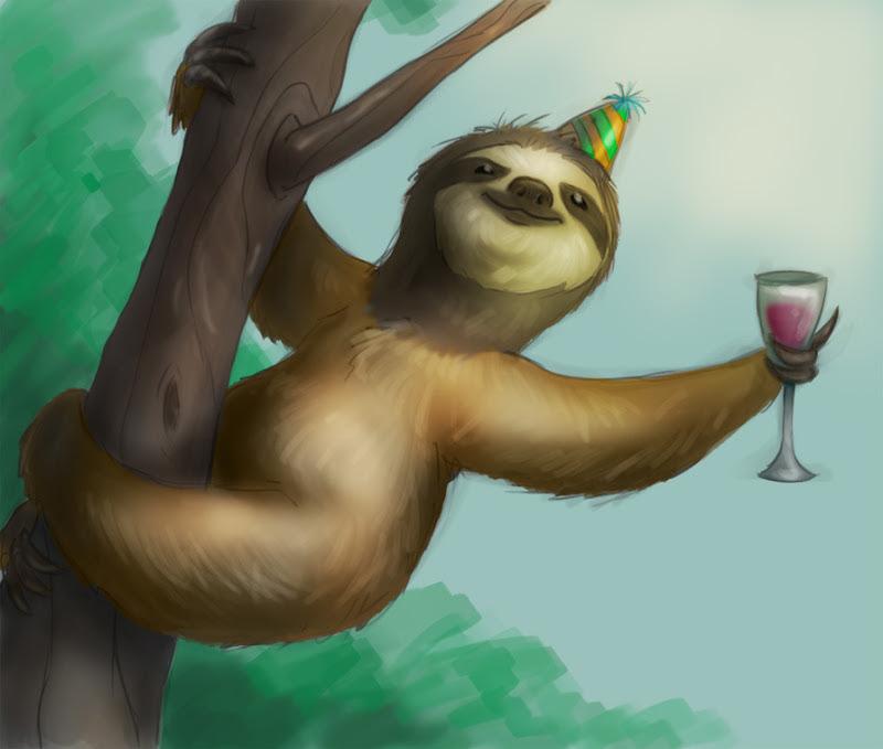 Twin Birthday Slothscomau
