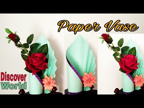 How To Make Paper Flower Vase At Home Step By Step Origami Flower