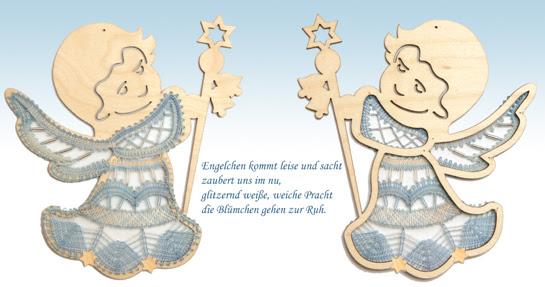Klöppelbrief Winterengel