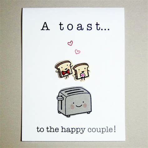 Wedding Toast Card, Engagement Card, Funny Wedding Card