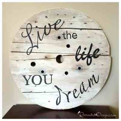 live_the_life_you_dream_spool_sign