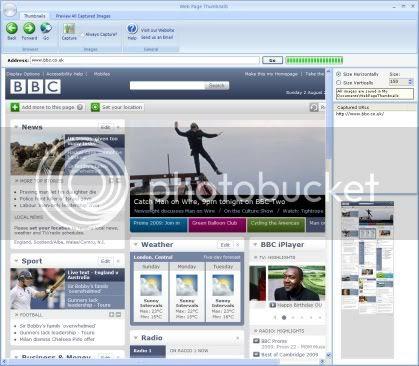 Webpage thumbnail generator software