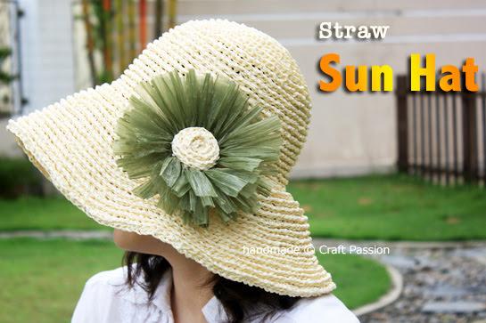 Crochet: Straw Sun Hat {Pattern}