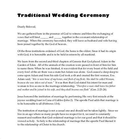 26  Wedding Ceremony Program Templates   PSD, AI, InDesign