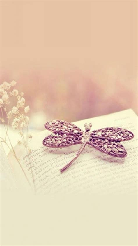 pure dreamy aesthetic book hairpin iphone  wallpaper